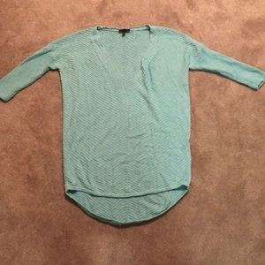 Turquoise high low sweater